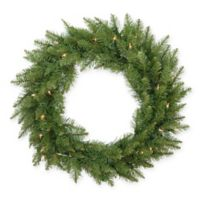 24-Inch Essex Pre-Lit Artificial Christmas Wreath