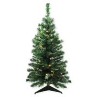3-Foot Pre-Lit Mixed Classic Artificial Christmas Tree with Clear Lights
