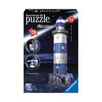 Ravensburger 216-Piece 3D Lighthouse Night Edition Puzzle