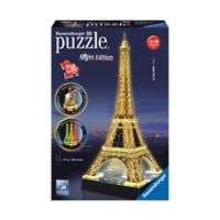 Ravensburger 216-Piece 3D Eiffel Tower Night Edition Puzzle