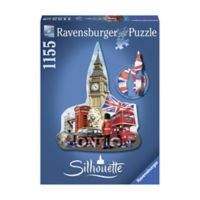 Ravensburger 1155-Piece Silhouette Shaped Big Ben, London Puzzle