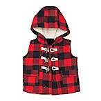 carter's® Size 6M Buffalo Check Twill Flannel Vest in Red