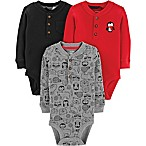 carter's® Size 3M 3-Pack Henley Bodysuits