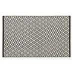 "Diamond Jacquard Value 24"" x 40"" Bath Rug in Grey"