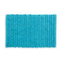"Madison Park Lasso 30"" x 20"" Chain Bath Rug in Blue"