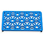 Old Dutch International Flora Rectangular Trivet in Blue Aster
