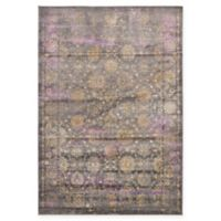 Unique Loom Saffle Stockholm 6' X 9' Powerloomed Area Rug in Gray