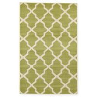 Unique Loom San Antonio Trellis 5' X 8' Powerloomed Area Rug in Green
