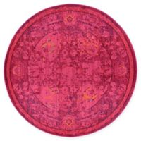 Unique Loom Salamanca Palazzo 6' Round Powerloomed Area Rug in Red