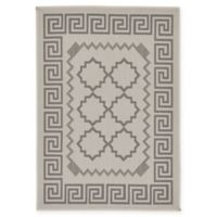 "Unique Loom Stars Outdoor 2'2"" X 3' Powerloomed Area Rug in Gray"