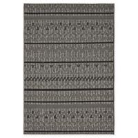 Unique Loom Southwestern Outdoor 4' X 6' Powerloomed Area Rug in Gray
