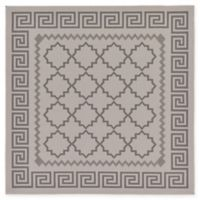 Unique Loom Stars Outdoor 6' X 6' Powerloomed Area Rug in Gray