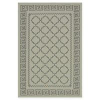 Unique Loom Stars Outdoor 6' X 9' Powerloomed Area Rug in Gray