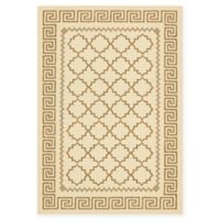 Unique Loom Stars Outdoor 6' X 9' Powerloomed Area Rug in Beige