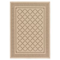 Unique Loom Stars Outdoor 7' X 10' Powerloomed Area Rug in Beige