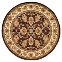 Unique Loom Springfield Agra 6' Round Powerloomed Area Rug in Brown