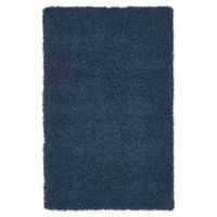 "Unique Loom Solid Shag 3'3"" X 5'3"" Powerloomed Area Rug in Navy"