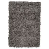 Unique Loom Solid Shag 2' X 3' Powerloomed Area Rug in Graphite Grey
