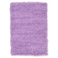 "Unique Loom Solid Shag 2'2"" X 3' Powerloomed Area Rug in Lilac"
