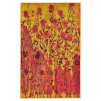 Unique Loom Symphonia Barcelona 5' X 8' Powerloomed Area Rug in Yellow