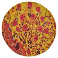 Unique Loom Symphonia Barcelona 6' Round Powerloomed Area Rug in Yellow