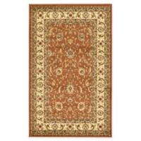 "Unique Loom St. Louis Agra 3'3"" X 5'3"" Powerloomed Area Rug in Brick Red"