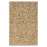 """Unique Loom Solid Shag 3'3"""" X 5'3"""" Powerloomed Area Rug in Taupe"""