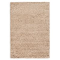 Unique Loom Solid Shag 4' X 6' Powerloomed Area Rug in Taupe
