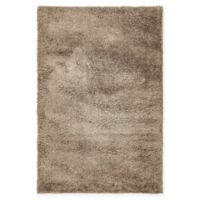 Unique Loom Solid Shag 4' X 6' Powerloomed Area Rug in Brown