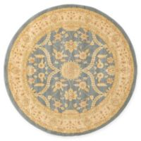 Unique Loom Tansy Heritage 6' Round Powerloomed Area Rug in Blue