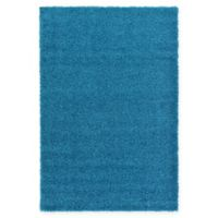 Unique Loom Solid Shag 5' X 8' Powerloomed Area Rug in Turquoise