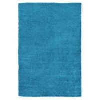 Unique Loom Solid Shag 7' X 10' Powerloomed Area Rug in Turquoise