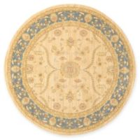 Unique Loom Tansy Heritage 6' Round Powerloomed Area Rug in Champagne