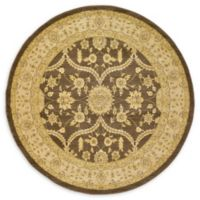 Unique Loom Tansy Heritage 6' Round Powerloomed Area Rug in Brown