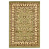 Unique Loom St. Louis Agra 4' X 6' Powerloomed Area Rug in Green