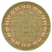Unique Loom St. Louis Agra 6' Round Powerloomed Area Rug in Green