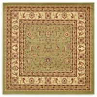 Unique Loom St. Louis Agra 6' X 6' Powerloomed Area Rug in Green