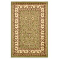 Unique Loom St. Louis Agra 6' X 9' Powerloomed Area Rug in Green