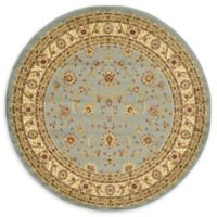 Unique Loom St. Louis Agra 6' Round Powerloomed Area Rug in Light Blue