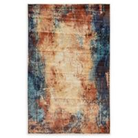 Unique Loom Thames Ethereal 5' X 8' Powerloomed Area Rug in Brick Red