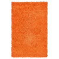 "Unique Loom Solid Shag 3'3"" X 5'3"" Powerloomed Area Rug in Orange"