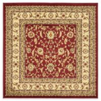 Unique Loom St. Louis Agra 4' X 4' Powerloomed Area Rug in Red