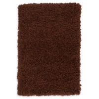 """Unique Loom Solid Shag 2'2"""" X 3' Powerloomed Area Rug in Chocolate Brown"""
