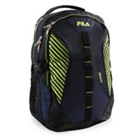 FILA Hunter Laptop Backpack in Blue/Neon Green