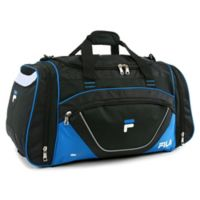 FILA Acer Large Duffle Bag in Black/Blue