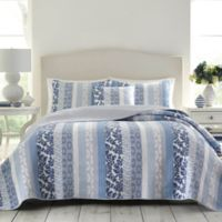 Laura Ashley® Evelyn Twin Quilt in Blue