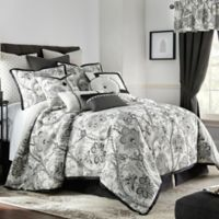 Rose Tree Valencia Reversible Queen Comforter Set in Platinum