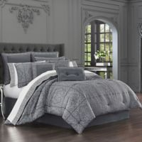 J. Queen New York™ Rigoletto King Comforter Set in Charcoal