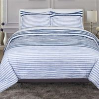 Nouvelle Home Layered Paint 3-Piece Full/Queen Comforter Set in Blue/White