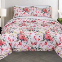 Nouvelle Home Bouquet 2-Piece Twin XL Comforter Set in Pink/Red